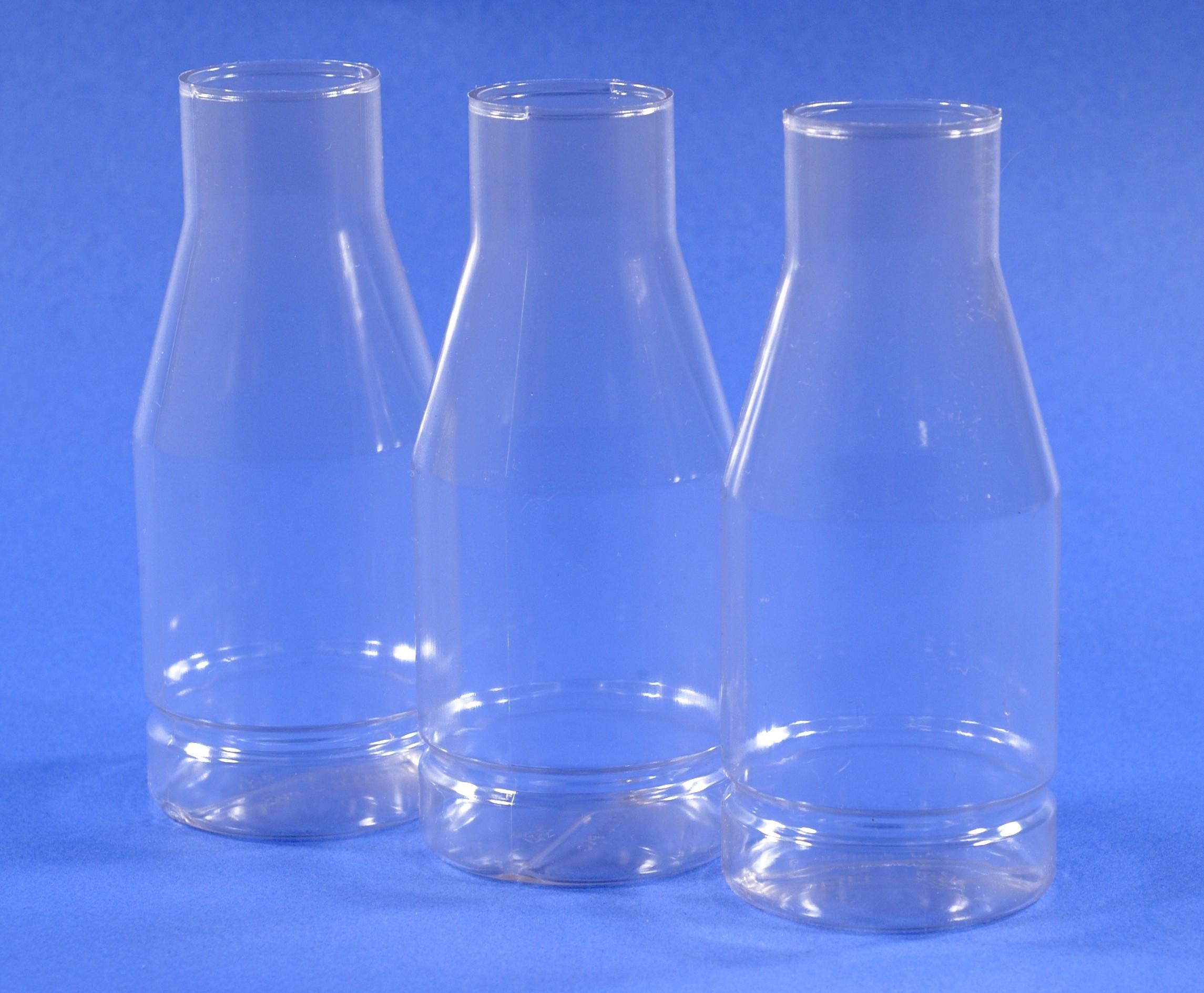 Image of three drosophila bottles