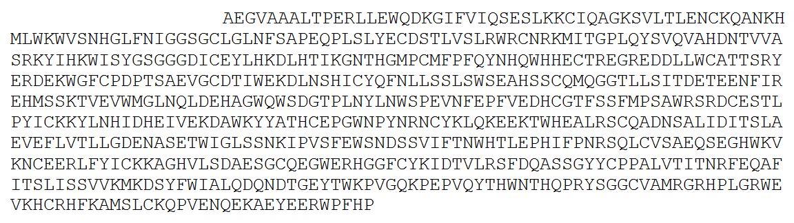 Antigen: PLA2R N-terminus fragment (Alanine20- Proline663)